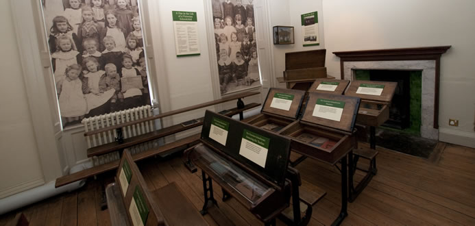 Schoolroom at Bassetlaw Museum